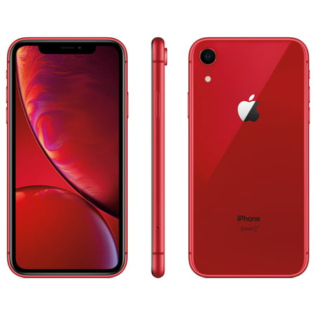 Walmart Family Mobile Apple iPhone XR w/64GB, Red (Mobile Phone Rose)