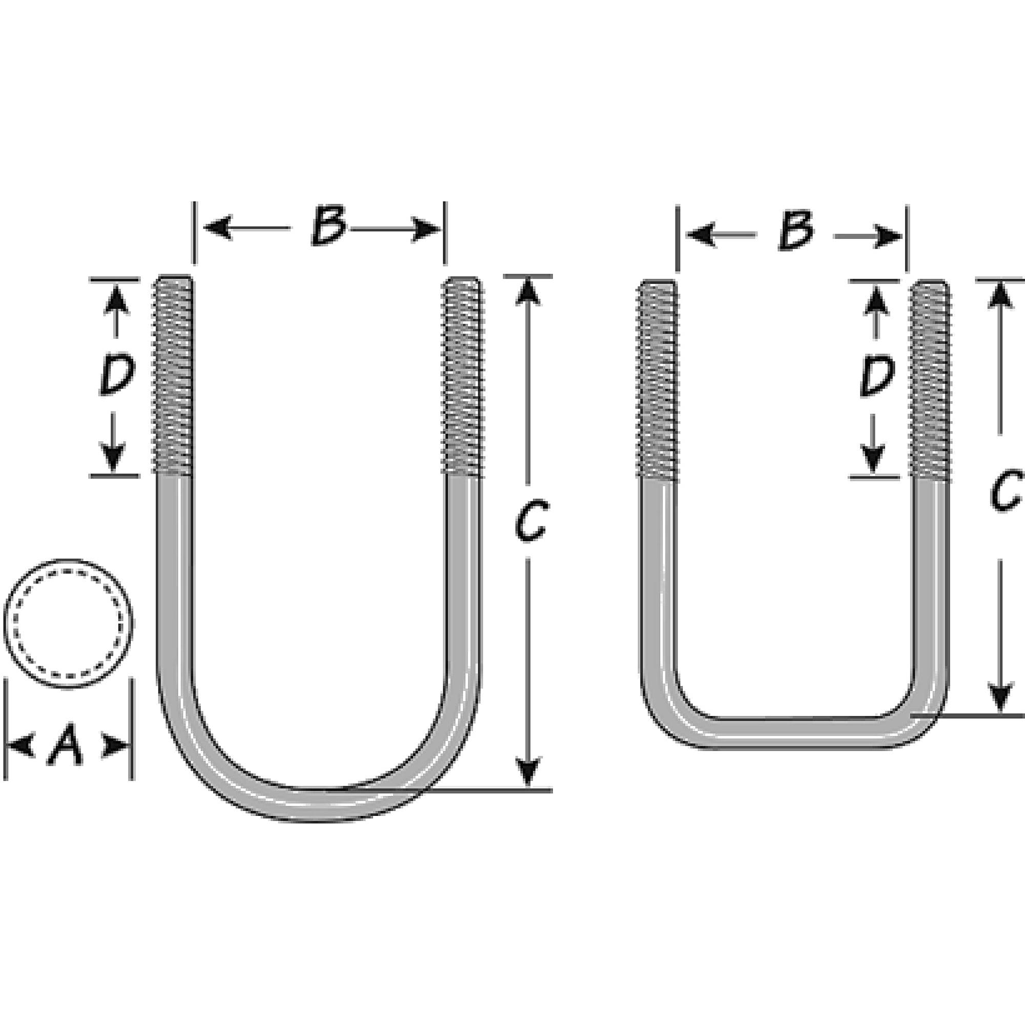 Tie Down Engineering Galvanized U-Bolt Kit