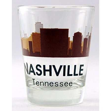 Nashville Tennessee Sunset Skyline shot glass