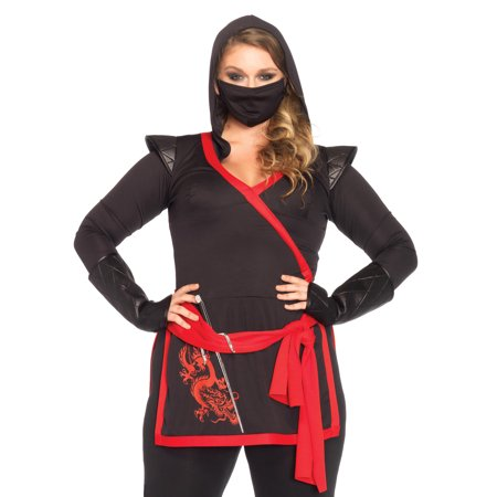Leg Avenue Women's Plus Size Ninja Assassin (Sexy Assassin Women's Ninja Costumes)