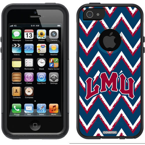Loyola Marymount Sketchy Chevron Design on OtterBox Commuter Series Case for Apple iPhone 5/5s