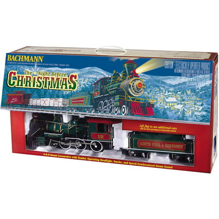 Bachmann Night Before Christmas - Large Scale (G Scale) Ready To Run Electric Train Set