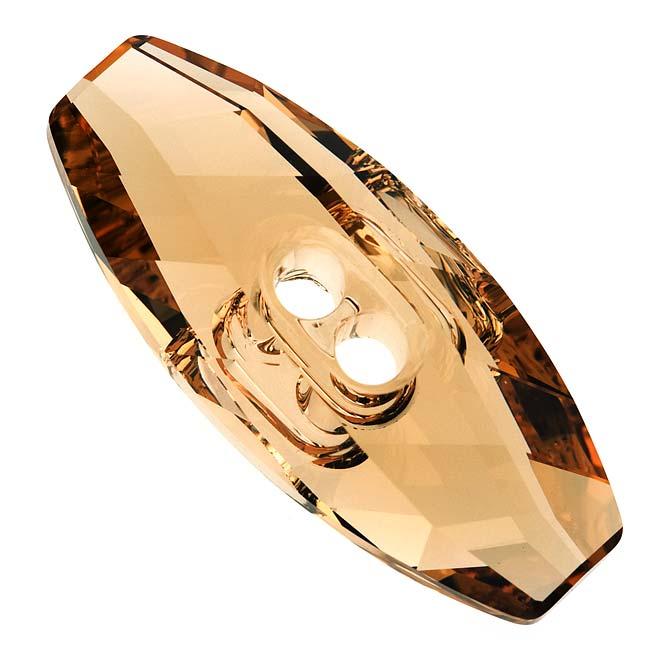 Swarovski Crystal, #3024 Dufflecoat Button 32mm, 1 Piece, Lt Colorado Topaz