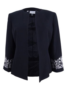 0bae88adcb05b7 Product Image Kasper Women s Plus Size Embroidered Blazer (18W