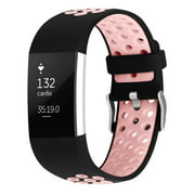 iGK Fitbit Charge 2 Bands Soft Silicone Adjustable Replacement Sport Strap for Fitbit Charge 2 Smartwatch Fitness Wristband