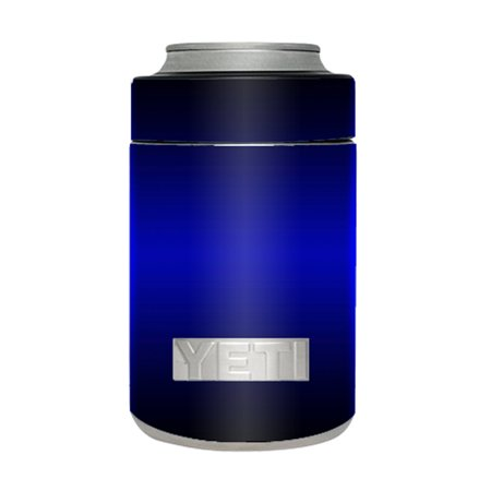 Skin Decal For Yeti 12 Oz Rambler Colster Can Cup / Electric Blue Glow Solid