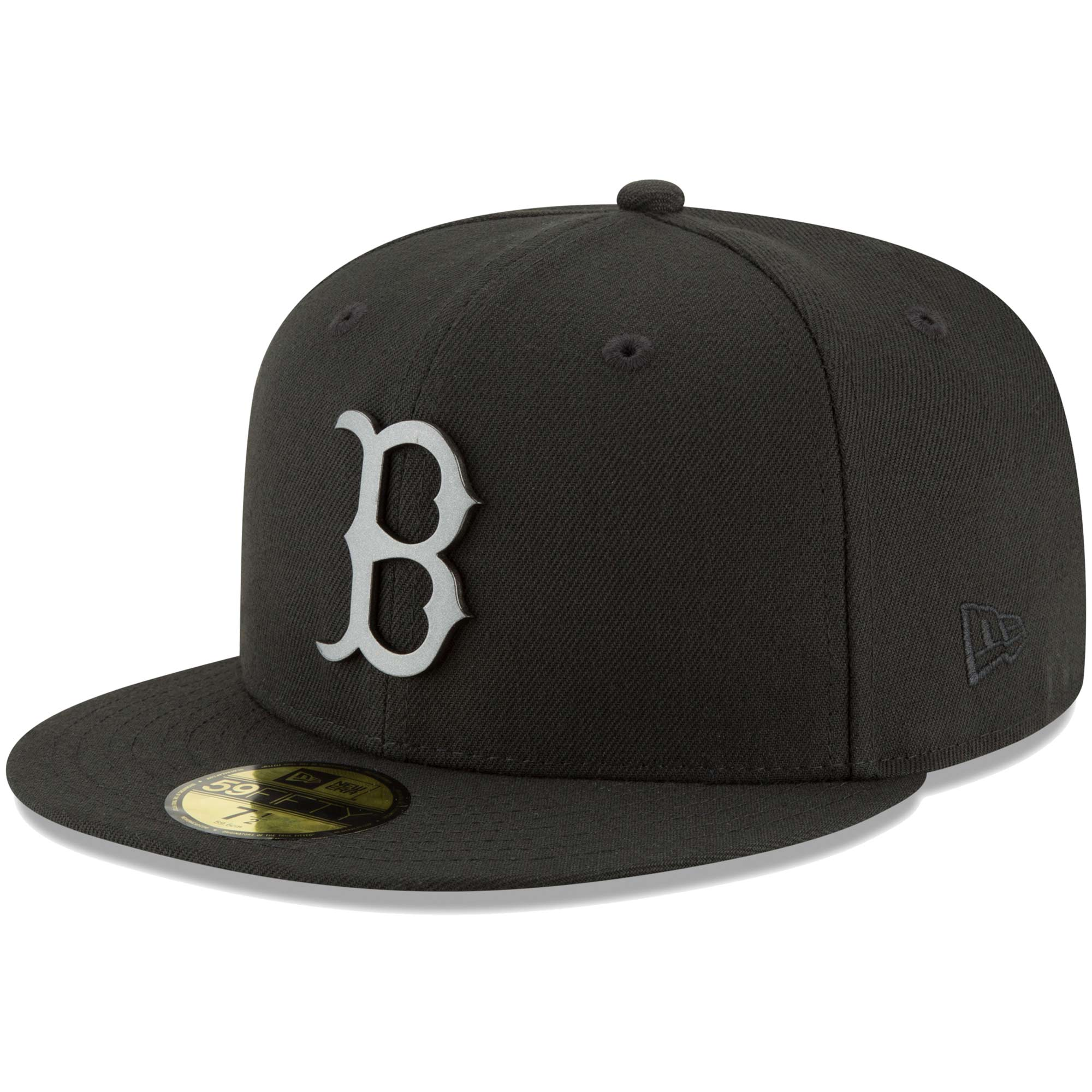 Boston Red Sox New Era Sleeked Finish 59FIFTY Fitted Hat - Black