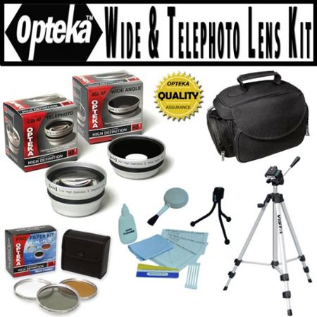 Opteka HD2 Professional Digital Accessory Kit for Panasonic Lumix DMC-FZ40 Digital Camera