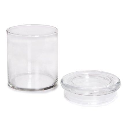 Libbey Glass Cylinder Jars with Flat Lids: 22oz jar (Flat Glass Jars With Lids)