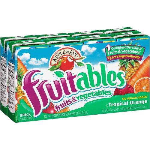 Apple & Eve Fruitables Tropical Orange Juice Beverage, 6.75 fl oz, 8 pack