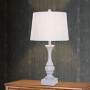 Fangio Lighting 28 inch Resin Table Lamp in Cool Grey Finish