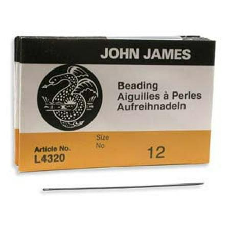 John James English Beading Needles Size 12 - Pack of 25 John James Beading Needle