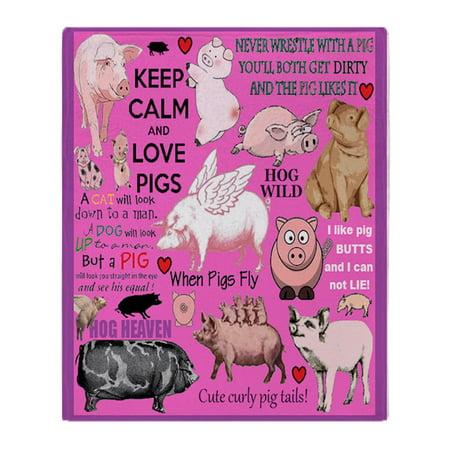 CafePress - Pigs - Soft Fleece Throw Blanket, 50
