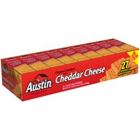 Austin Cheese Crackers w Cheddar Cheese Sandwich Crackers 37.2 oz 27ct