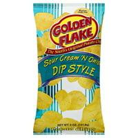Golden Flake Dip Style Sour Cream 'N Onion Potato Chips, 5 Oz.