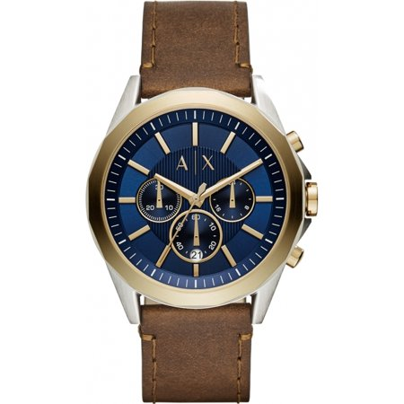 Armani Exchange Drexl Leather Chronograph Mens Watch - Armani Exchange Leather