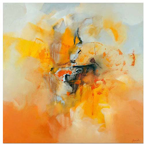"Trademark Fine Art ""Abstract IV"" Canvas Art by Zavaleta"