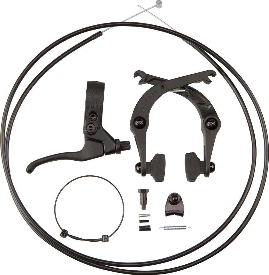 Odyssey Springfield Black Brake Kit U-Brake Lever & Linear Cable