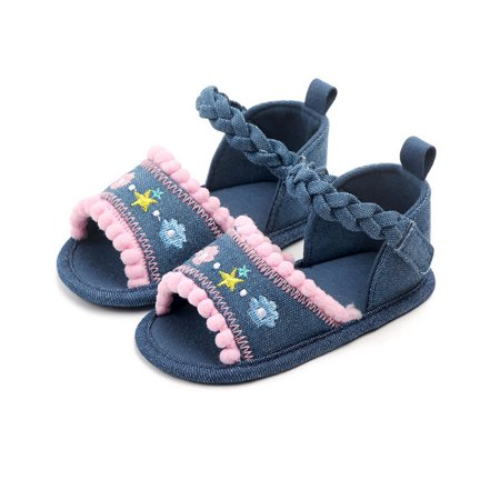Infant Newborn Baby Girls Summer Crib Shoes Walking Flat Shoes Prewalker Pink 3-5Months - Pink Shoes Girls