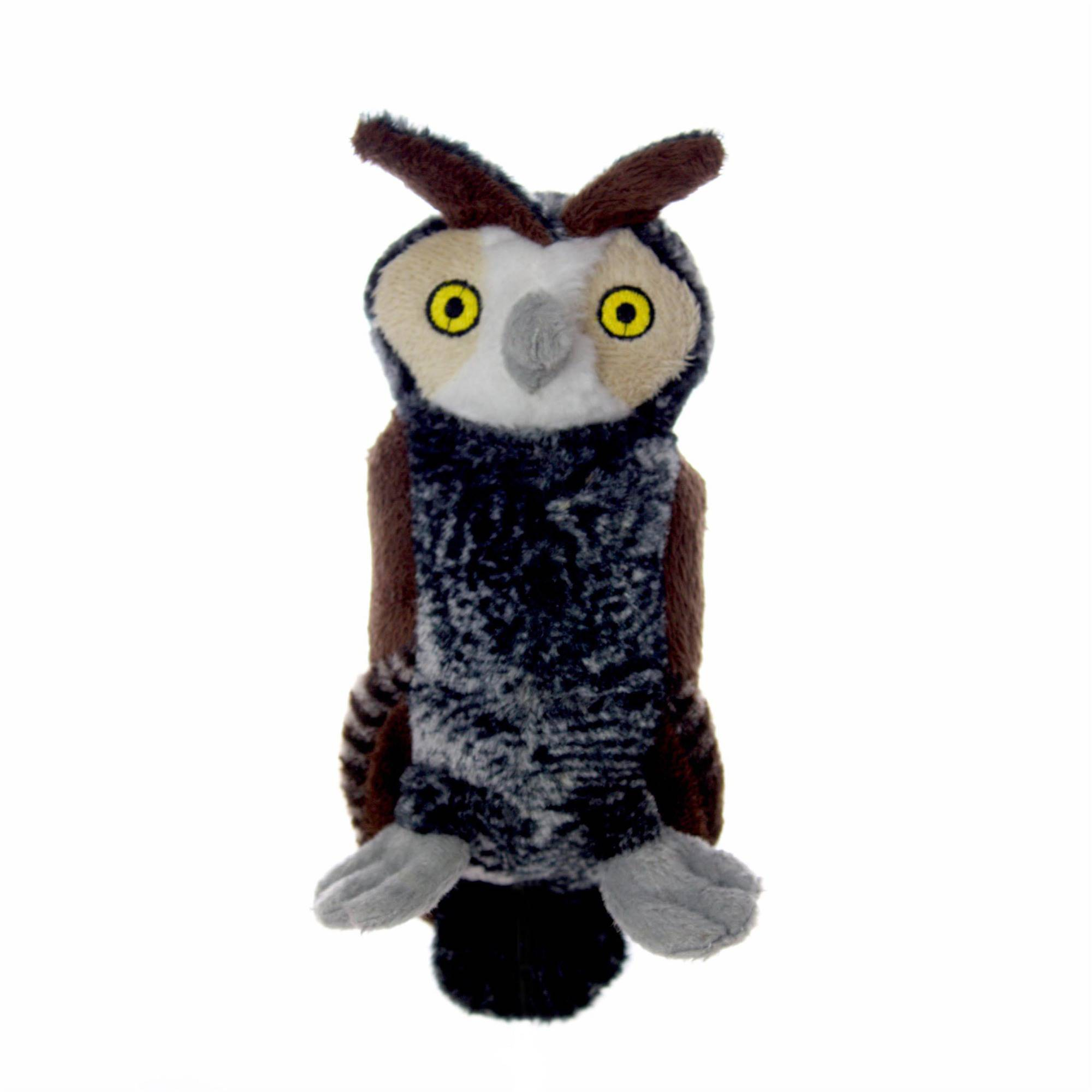 VIP Products Mighty Jr. Nature Owl Dog Toy, Medium, Multicolor