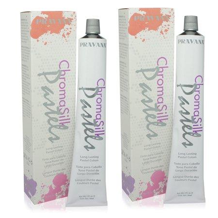 (PRAVANA ChromaSilk Pastels (Too Cute Coral) 3 Fl 0z - 2 Pack)