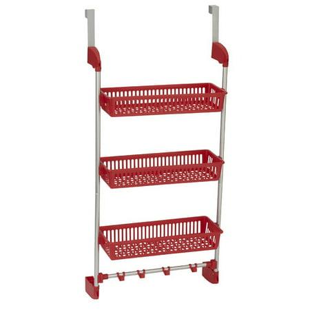 household essentials 3 basket overdoor organizer. Black Bedroom Furniture Sets. Home Design Ideas