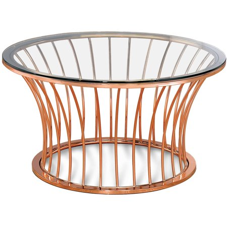 Swell Furniture Of America Caryl Contemporary Round Coffee Table Rose Gold Bralicious Painted Fabric Chair Ideas Braliciousco