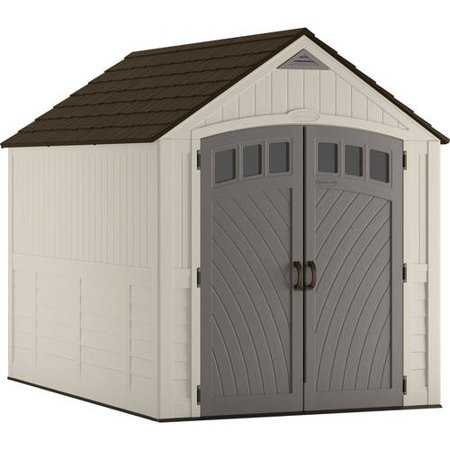 Suncast 481 cu. ft. 7x10 Covington® Resin Storage Shed, Vanilla, BMS8025