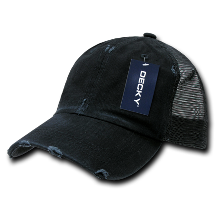 Womens Trucker Hat (DECKY Vintage Mesh Washed Cotton Snapback Trucker Cap Caps Hat Hats For Men Women)