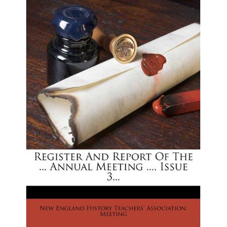 Register and Report of the ... Annual Meeting ..., Issue 3... - image 1 de 1