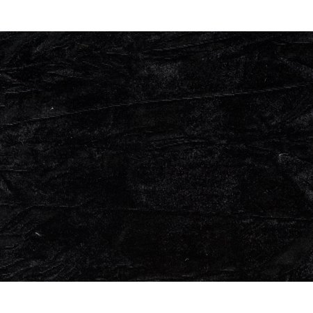 Cut Velvet Fabric (Crushed Velvet Fabric / Skrunchy / Black / 10 Yard Pre-Cut Roll)