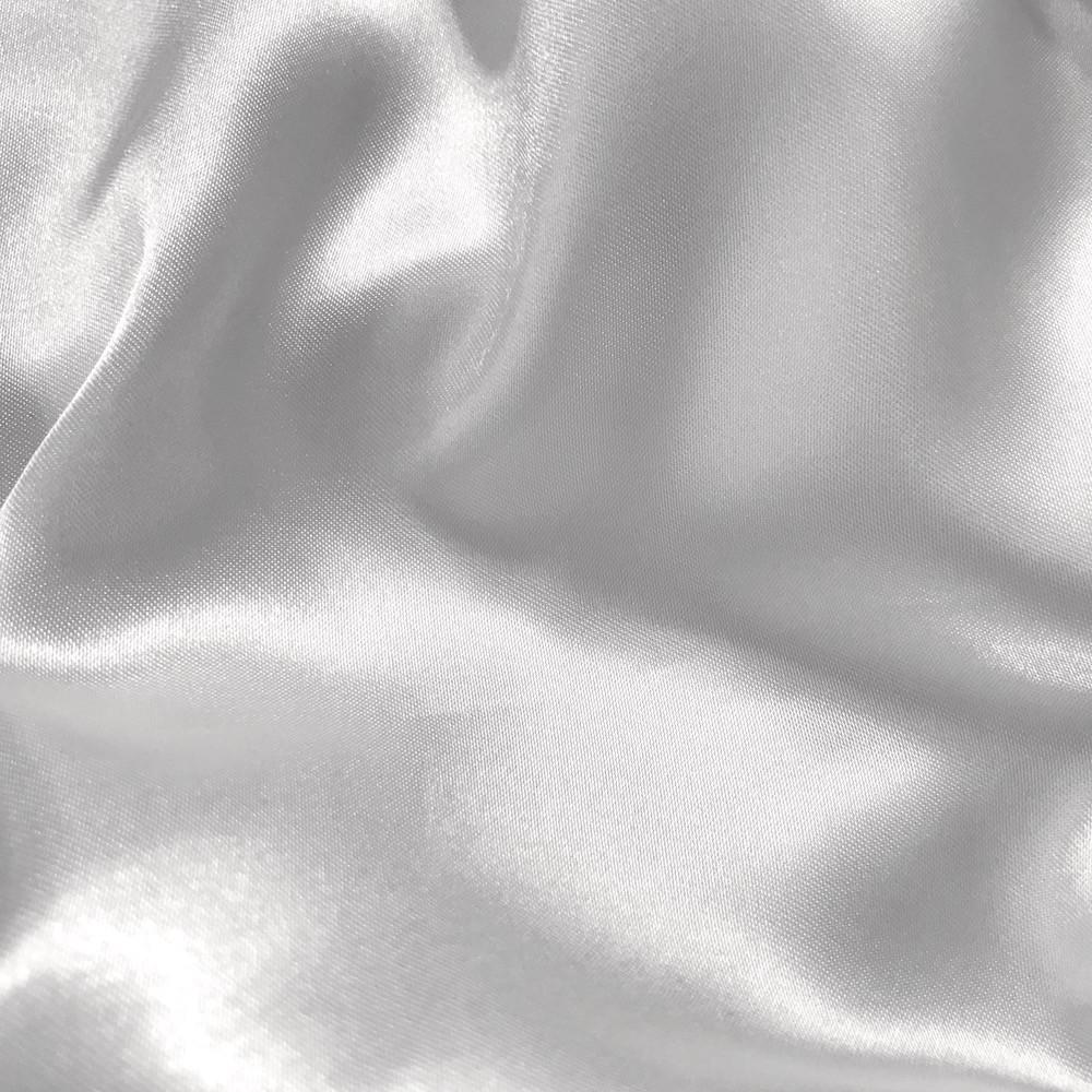 "Charmeuse Bridal Satin Fabric for Wedding Dress 60"" inches By the Yard Charmuse (White)"