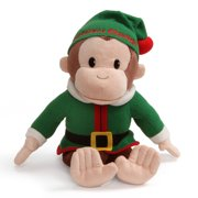 "Curious George Elf Holiday Monkey Stuffed Animal Plush, 12"", N/A By GUND"