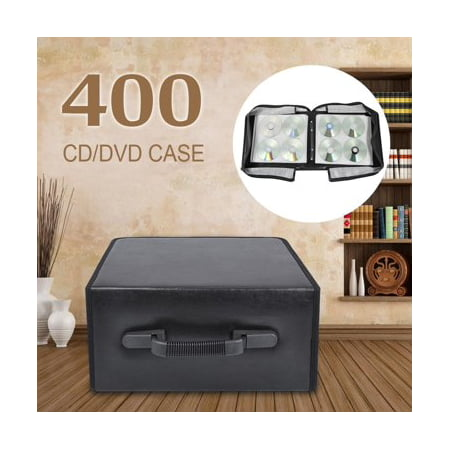 Yaheetech 400 Disc CD DVD Bluray Storage Holder Solution Binder Book Sleeves Carrying Case