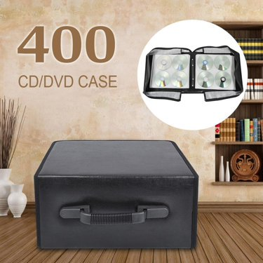 Acrylic Cd Holder - Yaheetech 400 Disc CD DVD Bluray Storage Holder Solution Binder Book Sleeves Carrying Case