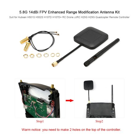 5.8Ghz 14dBi High Gain Panel Antenna and 2.4GHz 3dBi Antenna Kit for Hubsan H501S FPV Distance Enhanced - image 1 of 6
