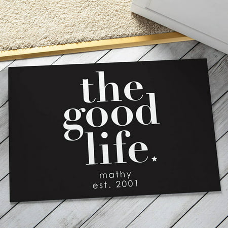 Personalized Doormat - The Good Life Available In Multiple Colors ()