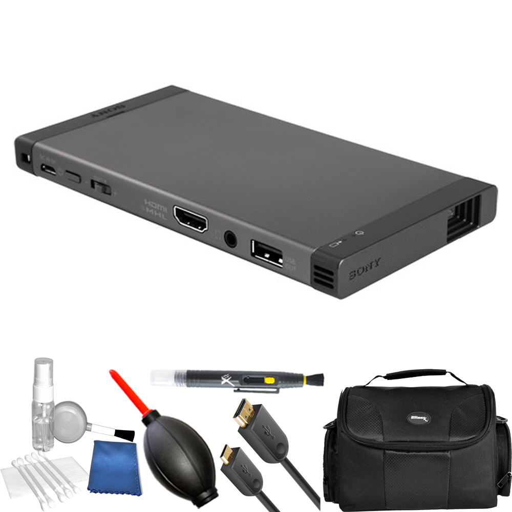 Sony MP-CL1A 32-Lumen HD Pico Projector with Wi-Fi (Gray) STARTER KIT