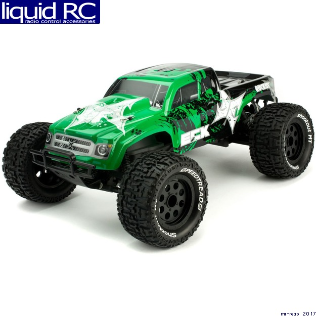 ECX Ruckus 2WD RTR Monster Truck (1/10 Scale), Green/Black