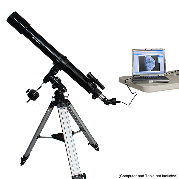 Twinstar 90mm Refractor Telescope with Digital USB Camera...