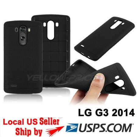 LivEditor Black Silicone Case Rubber Gel Matte Capsule Surface TPU Cover Films for LG G3 - image 2 de 5