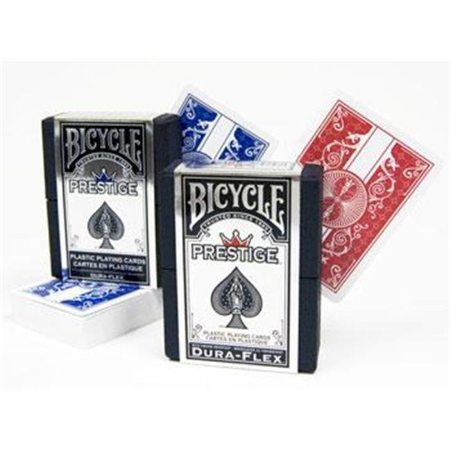 Bry Belly GUSP-506R. 506B 100% Plastic Bicycle Prestige Poker Size RB Playing Cards