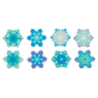 - Christmas Snowflakes SugarSoft Edible Cupcake Decorations - 12 count - National Cake Supply