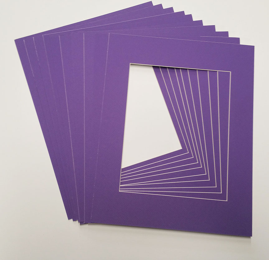 11x14 White Picture Mats with White Core for 8x10 Pictures - Fits 11x14 Frame