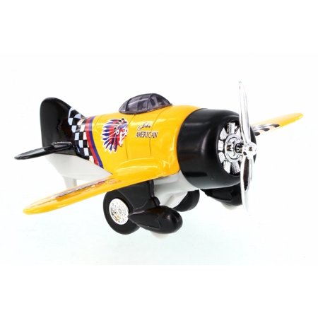 Classic Wing Airplane, Yellow - Showcasts 998D - Diecast Model Toy Car (Brand New but NO