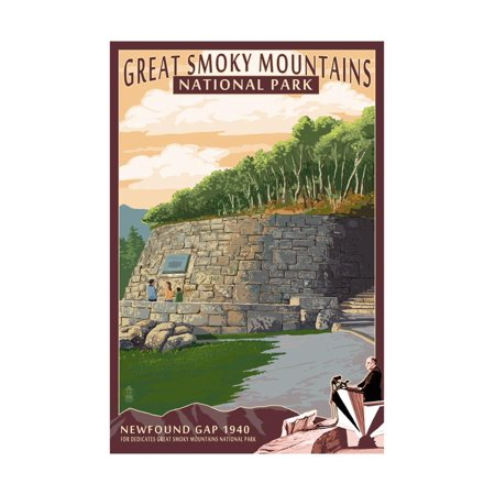 Newfound Gap - Great Smoky Mountains National Park, TN Print Wall Art By Lantern