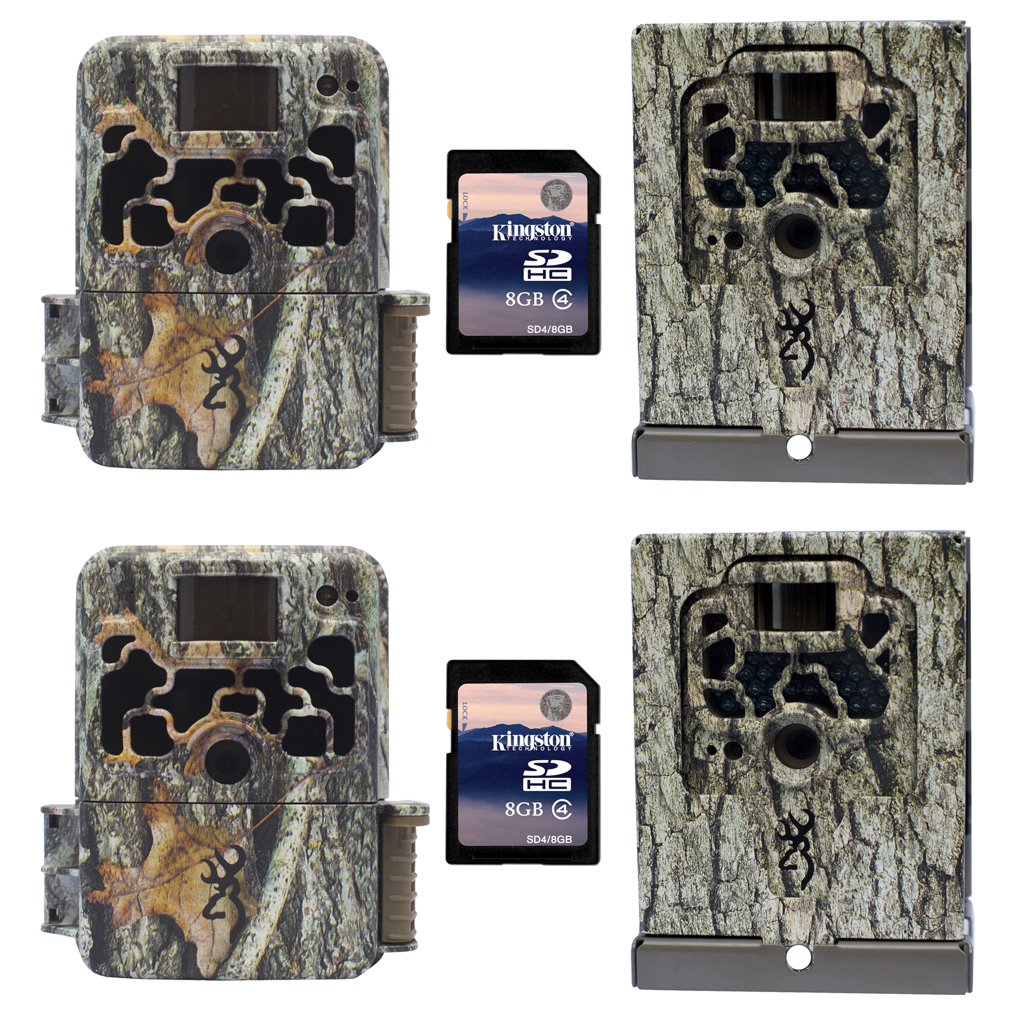 Browning Trail Cameras Dark Ops Elite Game Camera, 2 + Security Boxes & SD Cards by Browning Trail Cameras