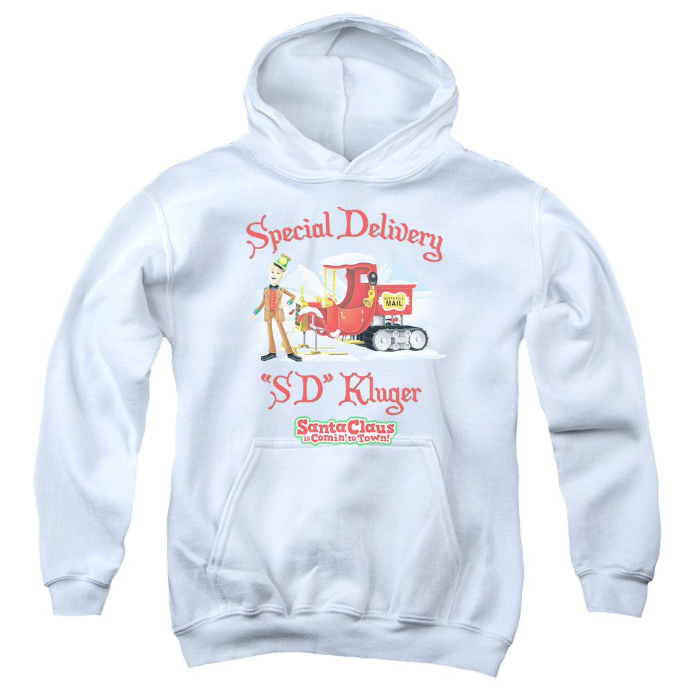 Santa Claus Is Comin To Town Kluger Big Boys Pullover Hoodie