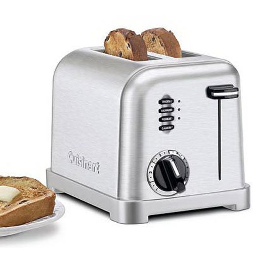 Cuisinart CPT-160 Metal Classic 2-Slice Toaster, Brushed Stainless (CERTIFIED REFUBRISHED)