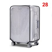 20''22''24''26''28''30'' PVC Transparent Waterproof Travel Luggage Cover Suitcase Protector